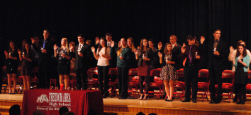 National Honor Society inducts new members: Middle school welcomes new chapter