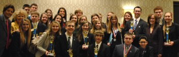 DECA the halls with medals and trophies: Eight individuals and five teams qualify for states