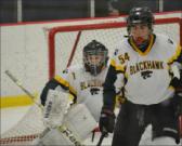 Skating for playoffs: Blackhawk hockey players work towards playoffs