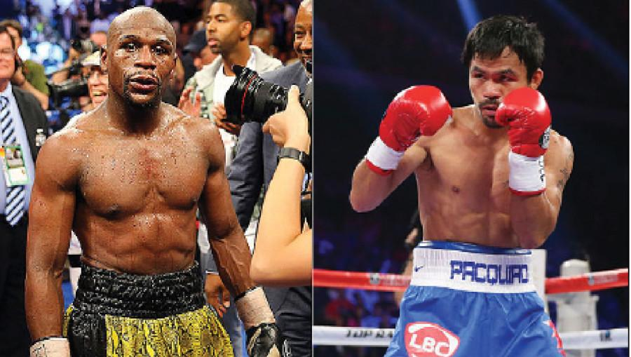 World+Welterweight+Champion+Floyd+Mayweather+fought+Manny+Pacquaio+at+the+MGM+Grand+in+Las+Vegas+on+May+2.
