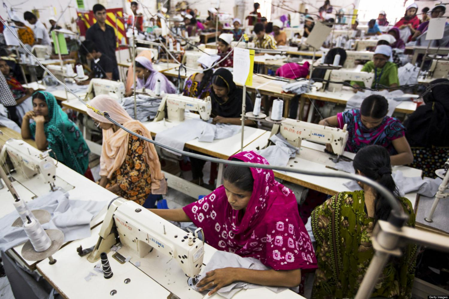 Women work in one of the five thousand garment factories in Bangladesh.