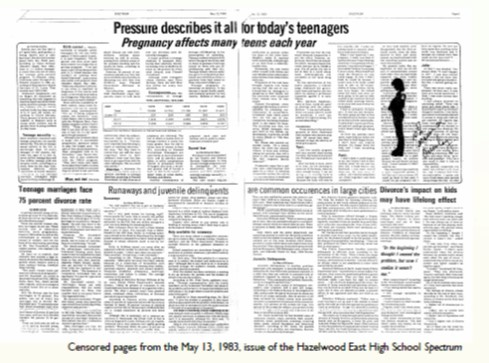 The two articles that caused the entire court case and helped to start to give student journalists control over their publications back.