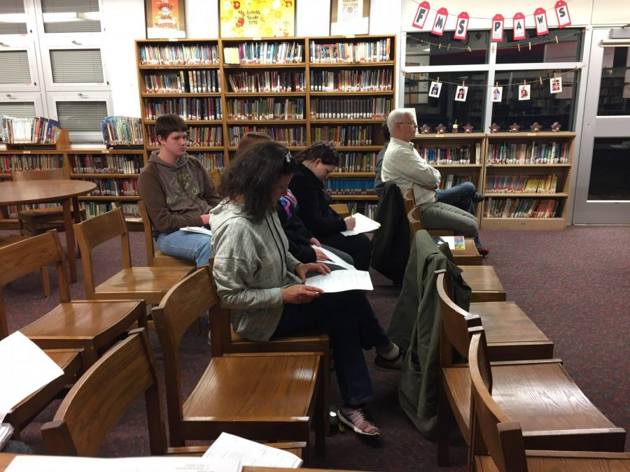 Only a few members of the public chose to stay during the whole meeting on Feb. 13.