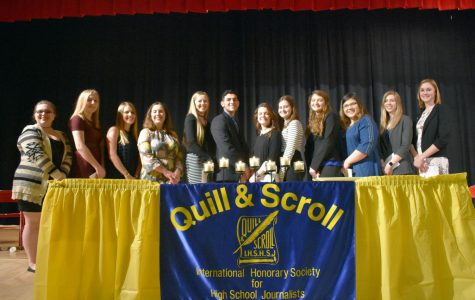 12 students inducted to international high school journalism honor society