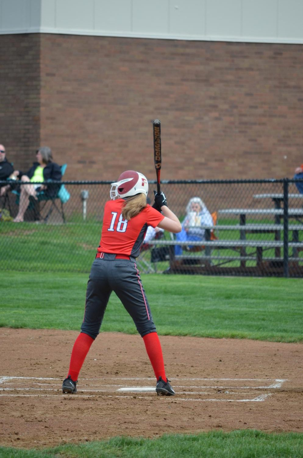 Junior Amber Baumiller is up to bat during last year's season against Beaver Falls.