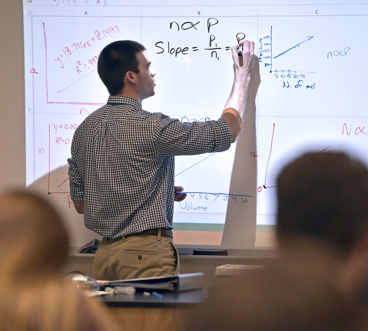Many students have a substitute teacher rather than their scheduled teacher.
