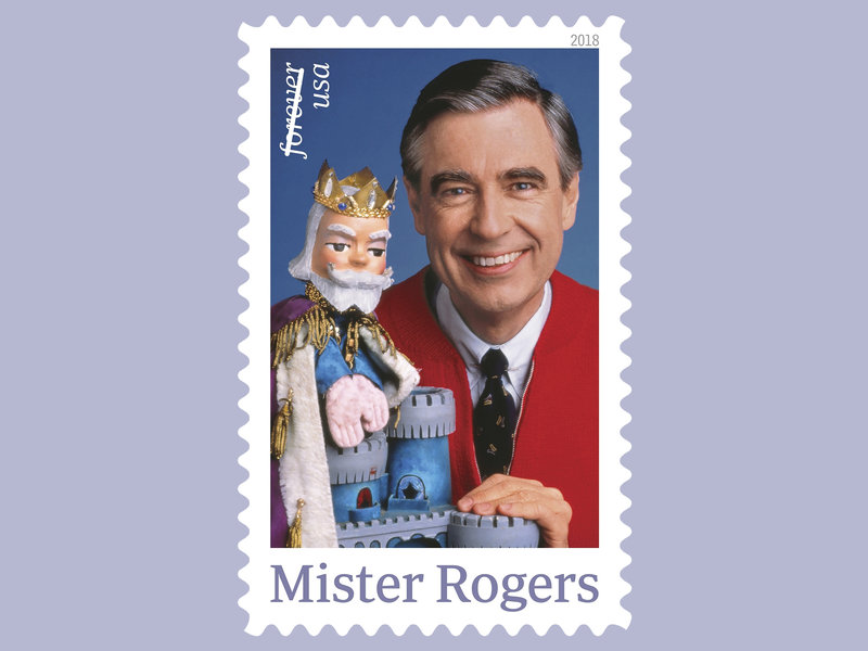 The+U.S.+Postal+Service+plans+released+a+postage+stamp+featuring+Fred+Rogers+and+his+King+Friday+XIII+puppet+from+%E2%80%9CMister+Rogers%27+Neighborhood%2C%E2%80%9D+a+children%E2%80%99s+TV+series+on+the+Public+Broadcasting+Service+%28PBS%29.%0A