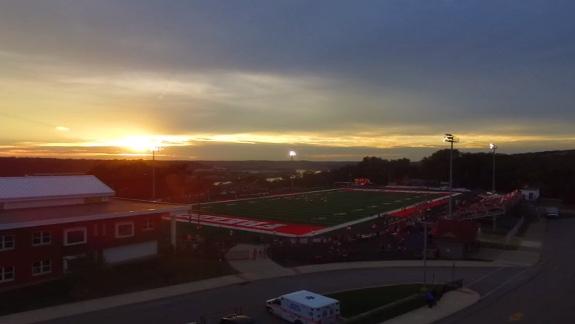 Crowds of people filled Bulldog Stadium on opening night of the football season on August 24.