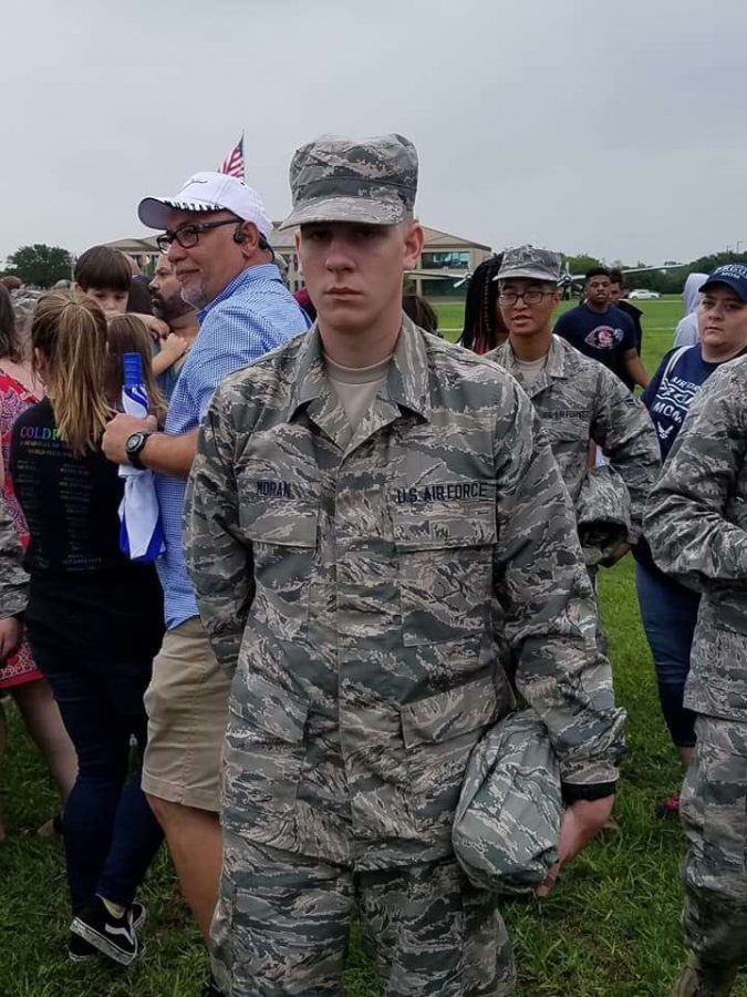 +Freedom+alum+Ian+Moran+stands+for+a+photo+after+graduating+from+Air+Force+Basic+Military+Training+on+Sept.+14.+