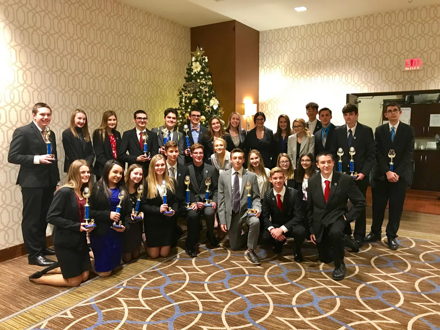 Thirty-one DECA members competed at the district competition on Dec. 3, which was held at the Sheraton Hotel near the Pittsburgh Airport. Thirteen of the 31 qualified to advance to states, which will take place in Hershey from Feb. 20 to Feb. 22.