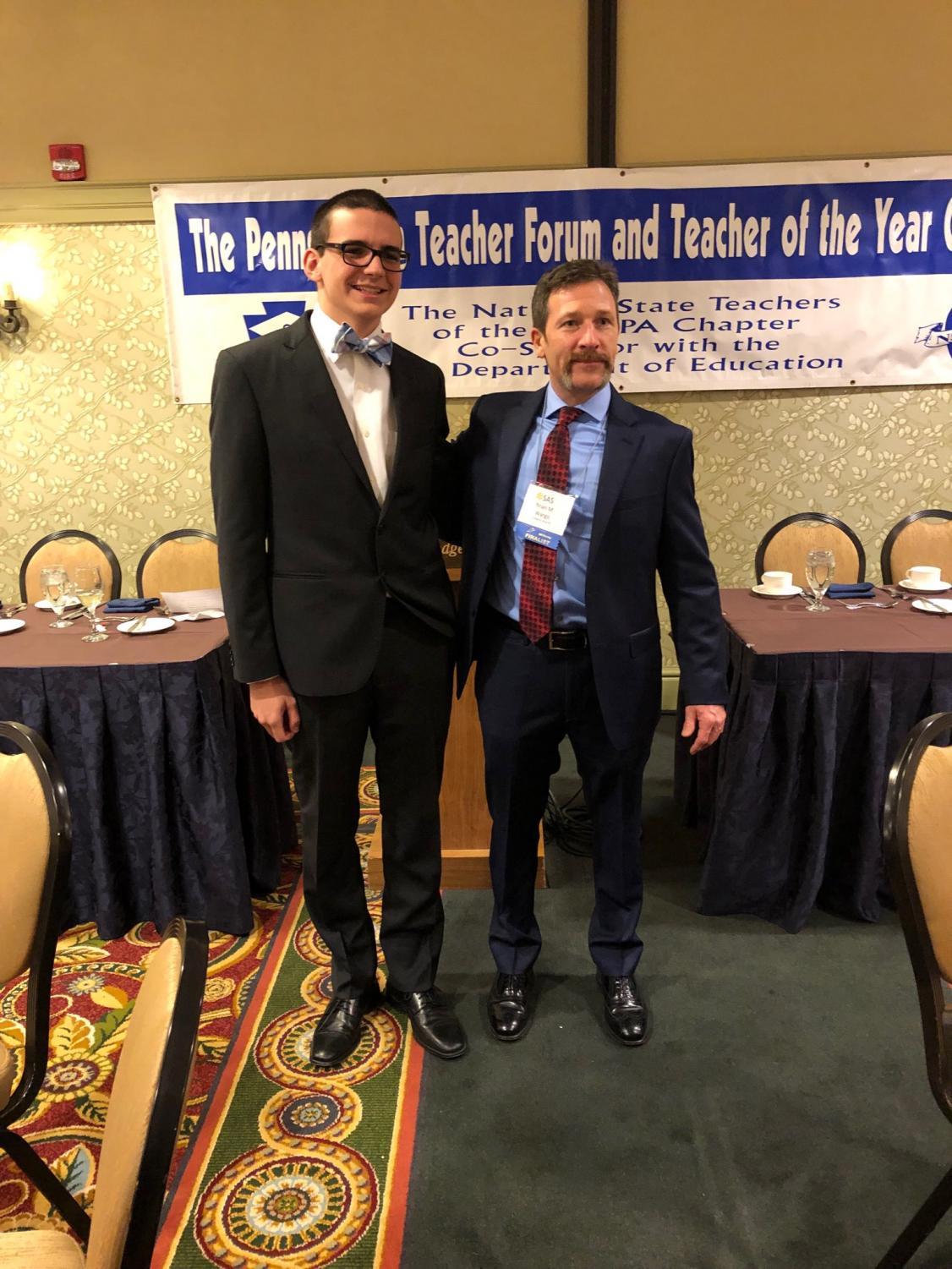 Junior Cole Skuse accompanied physics teacher Brian Wargo to the conference in Harrisburg.