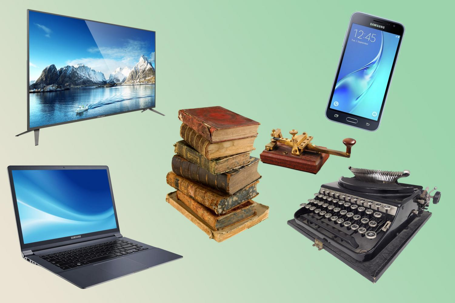 Although technology has become more advanced throughout history, new technology mimics older technology.