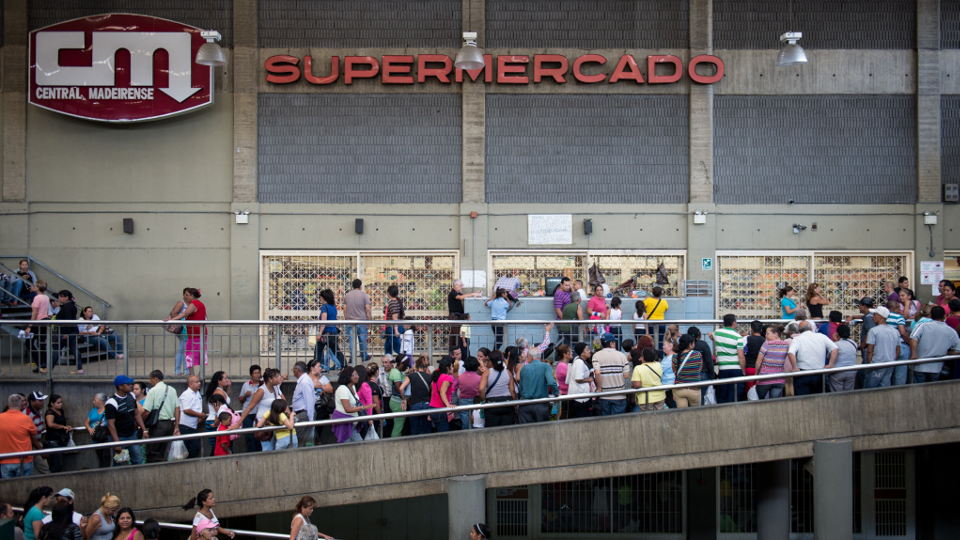 Many Venezuelans have to resort to standing in lines that are up to multiple blocks long to buy necessities like milk, bread, detergent and toilet paper.
