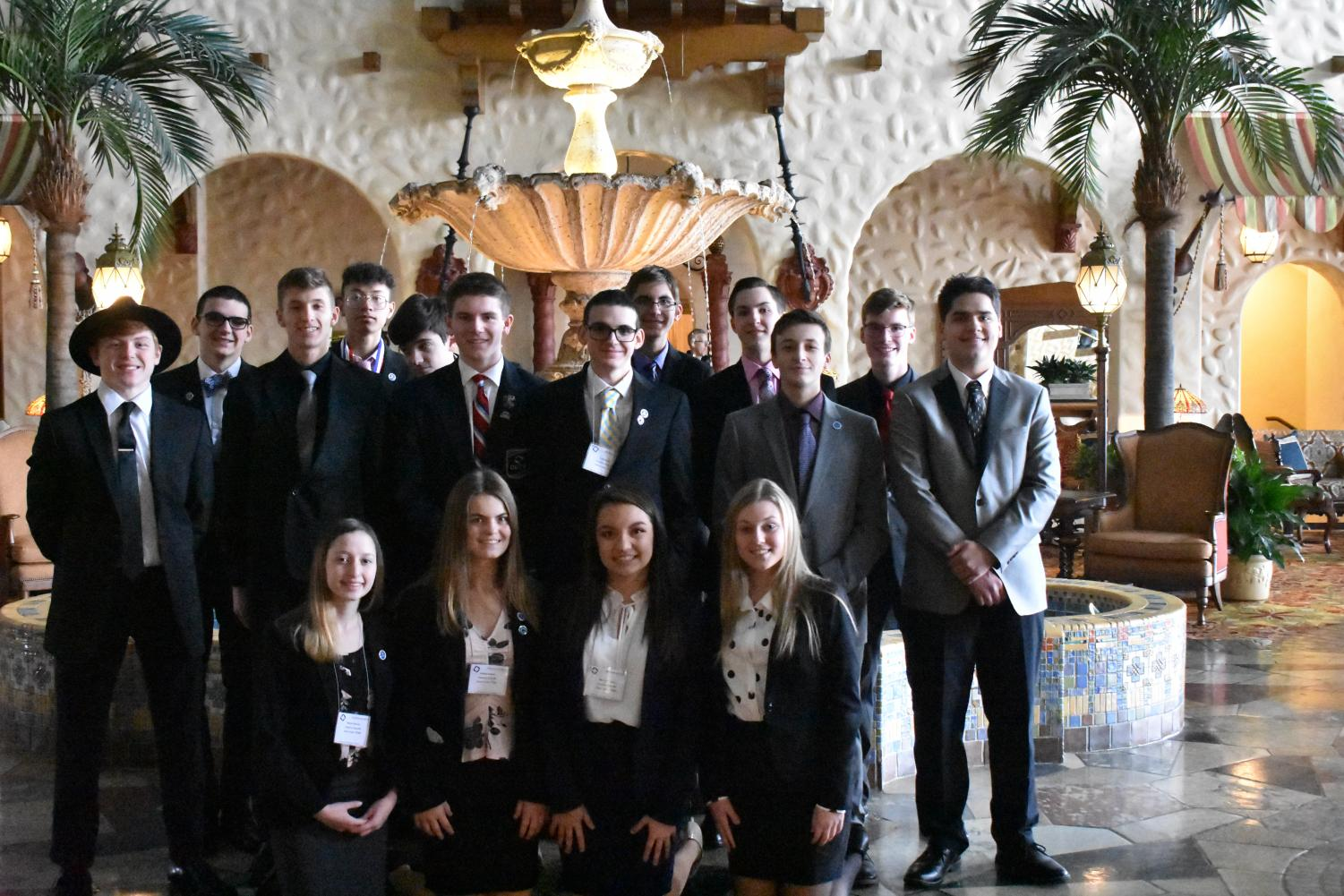 Following the grand awards ceremony, the state competitors took a group photo at the Hotel Hershey on Feb. 22.