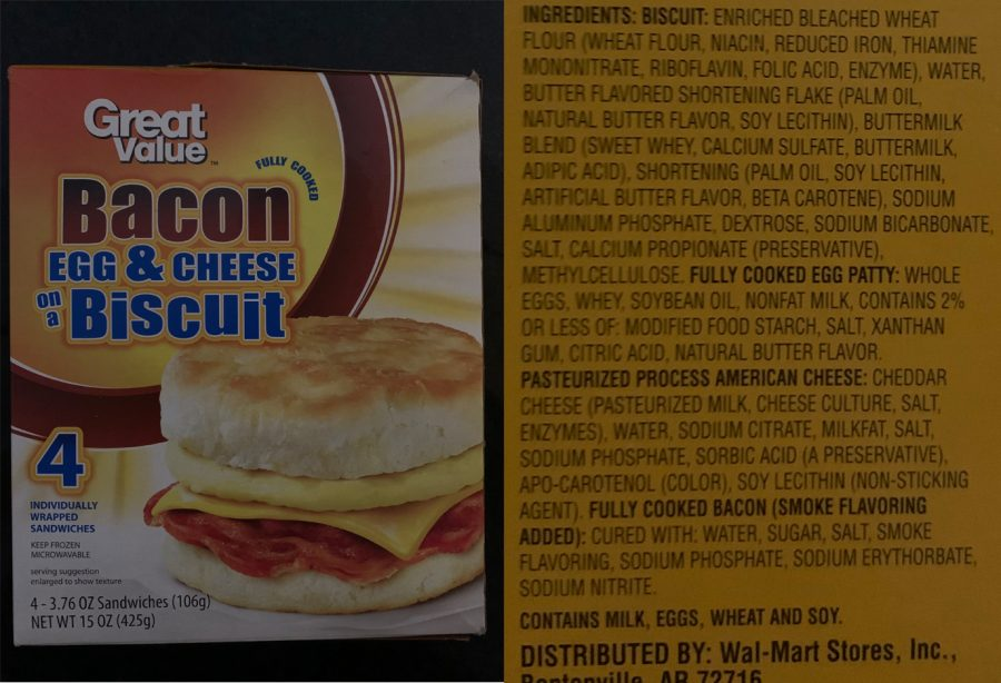 Although+many+people+consider+breakfast+sandwiches+healthy%2C+these+are+all+of+the+ingredients+that+can+be+found+in+a+bacon%2C+egg+and+cheese+biscuit+sandwich+from+Wal-Mart%E2%80%99s+Great+Value+brand.