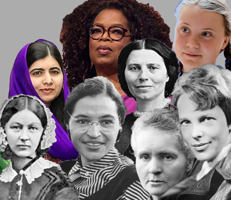 Together, the women in this image have accomplished great things that have changed history for the better.