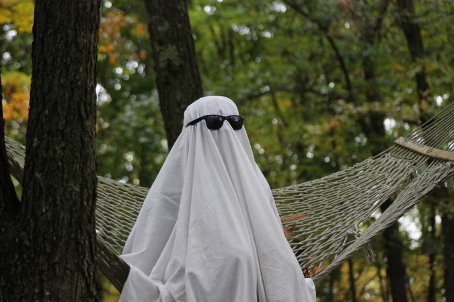 Dressing up as a ghost and having a photoshoot is a recent trend on TikTok that is simple, yet spooky.