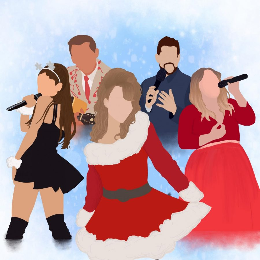 Popular singers Ariana Grande, Bobby Helms, Mariah Carey, Michael Bublé and Kelly Clarkson are successful individuals in the Christmas music industry.