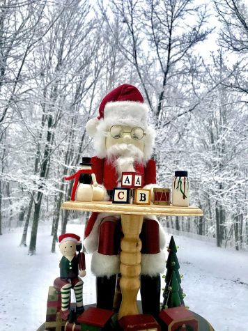 Many people all around America decorate their houses with various types of decorations, including Santa figurines.