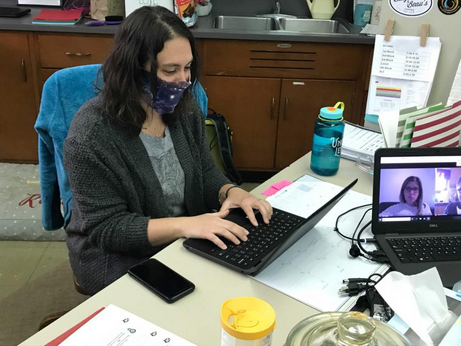 Ms. Ashley Spencer fills in for Special Education teacher April English.