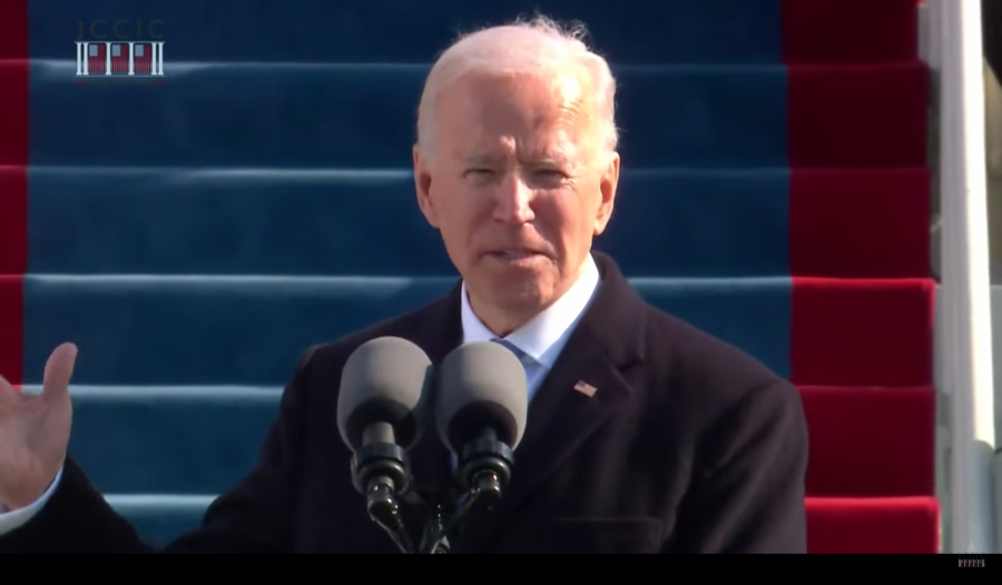 On+Jan.+20%2C+President+Joe+Biden+gave+his+inaugural+address+in+front+of+the+Capitol.+Some+of+the+themes+he+touched+upon+in+his+message+were+unity+and+recovery.+