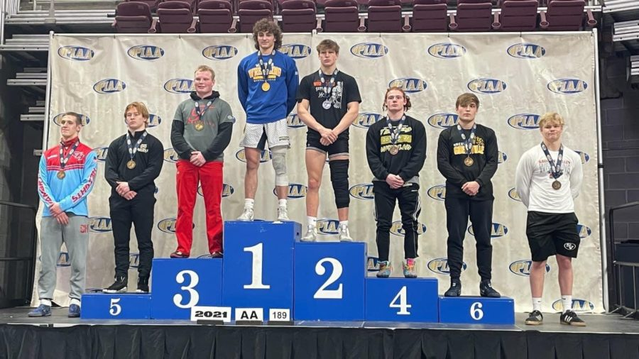 Senior Trent Schultheis finished his Freedom wrestling career with a third place finish in the PIAA championships on March 12.