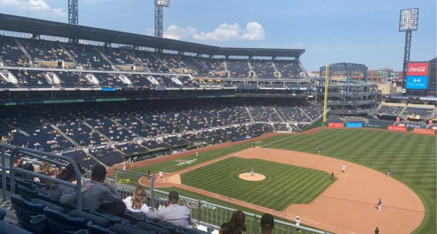 The Pittsburgh Pirates hosted their home opener on April 8 with a limited number of fans.